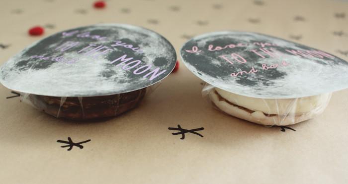 I love you to the moon pie! Free printable moon valentine | A Joyful Riot