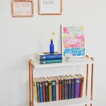 DIY Copper Pipe Bookcase