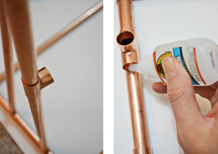 DIY Copper Bookcase @ajoyfulriot