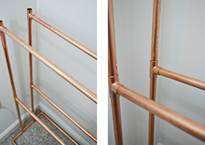 DIY Copper Bookcase @ajoyfulriot