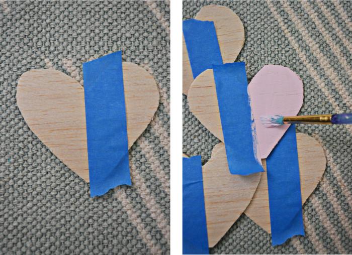wood heart garland steps2