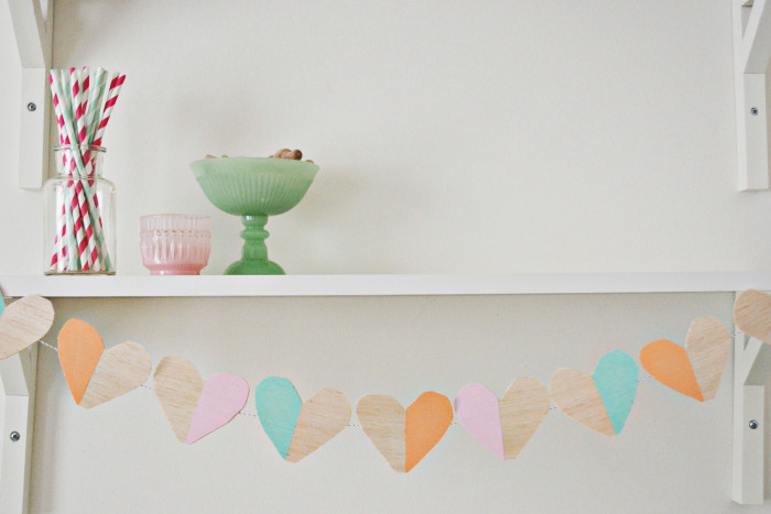 wood heart garland11