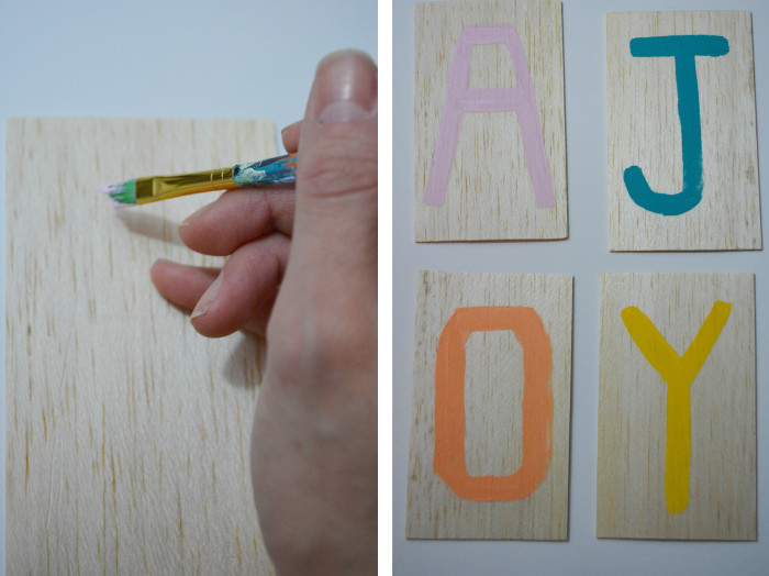wood letters step2