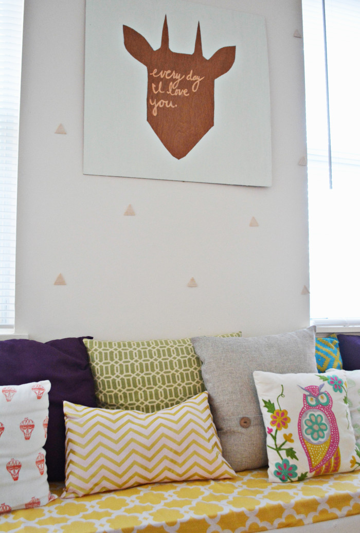 Triangle Wood Wall Treatment @ajoyfulriot