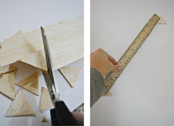 Triangle Wood Wall Treatment @ajoyfulriot