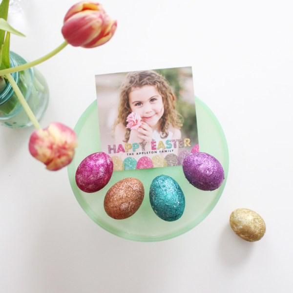 Colorful Glitter Easter Eggs DIY