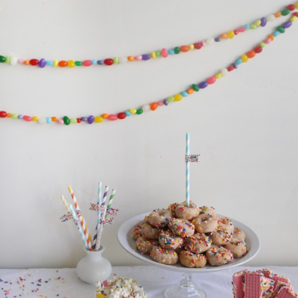 Jellybean Garlands & Paper Table Runner