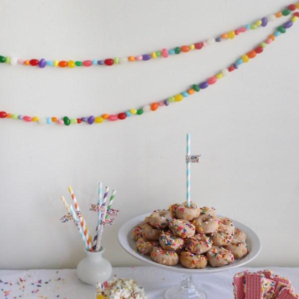 Jellybean Garlands & Paper Table Runner
