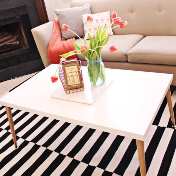Mid-century DIY Coffee Table