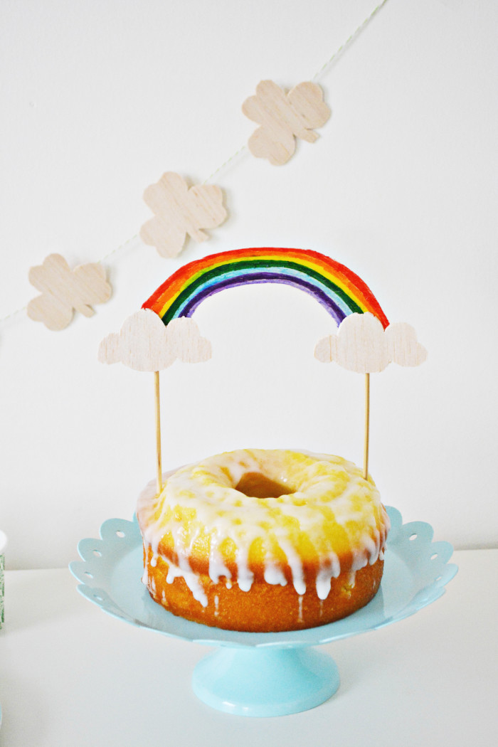 Rainbow Cake Topper A Joyful Riot