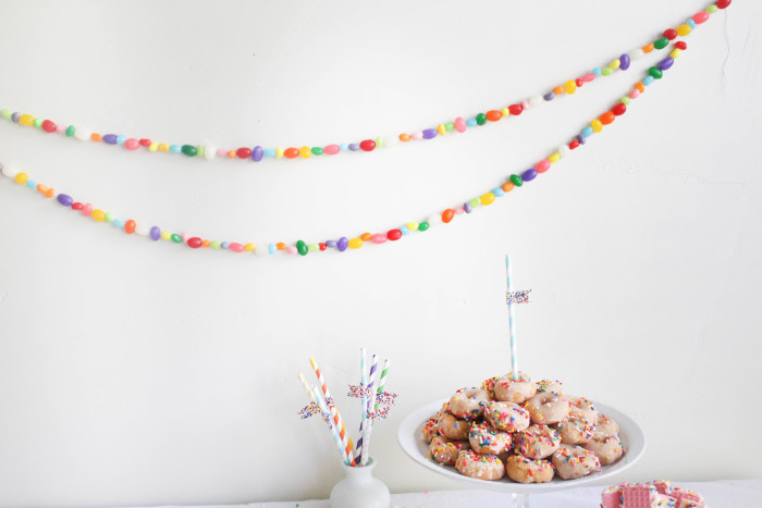jellybean garland DIY  | A Joyful Riot