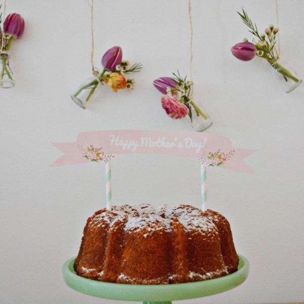 Mother's Day Cake Topper | Free Printable Friday