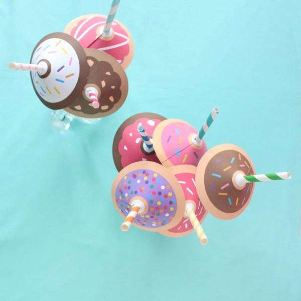 Donut Straw Umbrellas | Free Printable Friday
