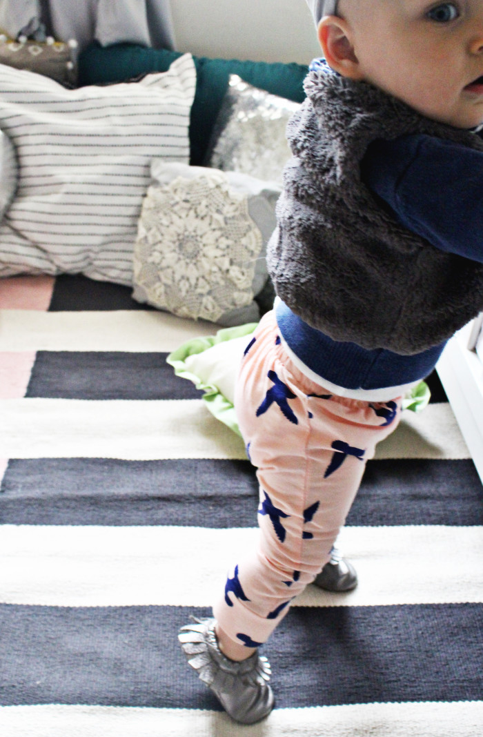 DIY baby harem pants with free pattern via A Joyful Riot