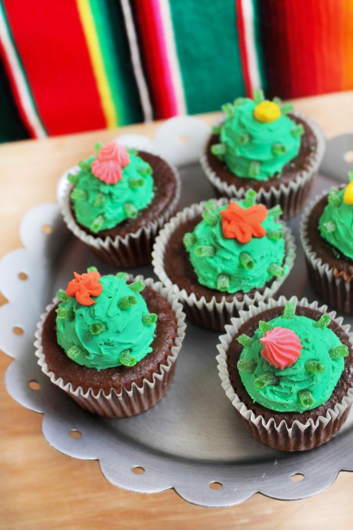 Easy cactus cupcakes aren't prickly, just sweet! Via A Joyful Riot