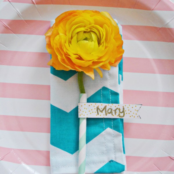 Straw Flower Place Cards