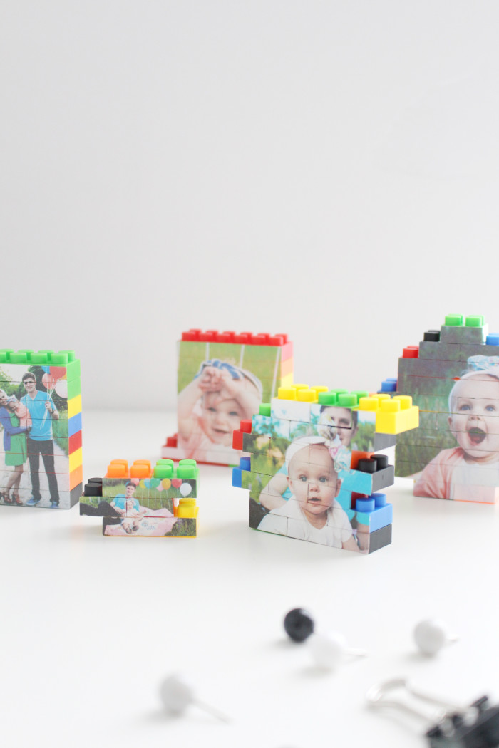 DIY lego picture puzzles. Perfect father's day gifts for dad's desk! | A Joyful Riot