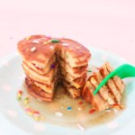 Grain Free, Sugar Free and Dairy Free Cake Batter Pancakes with Butter Glaze