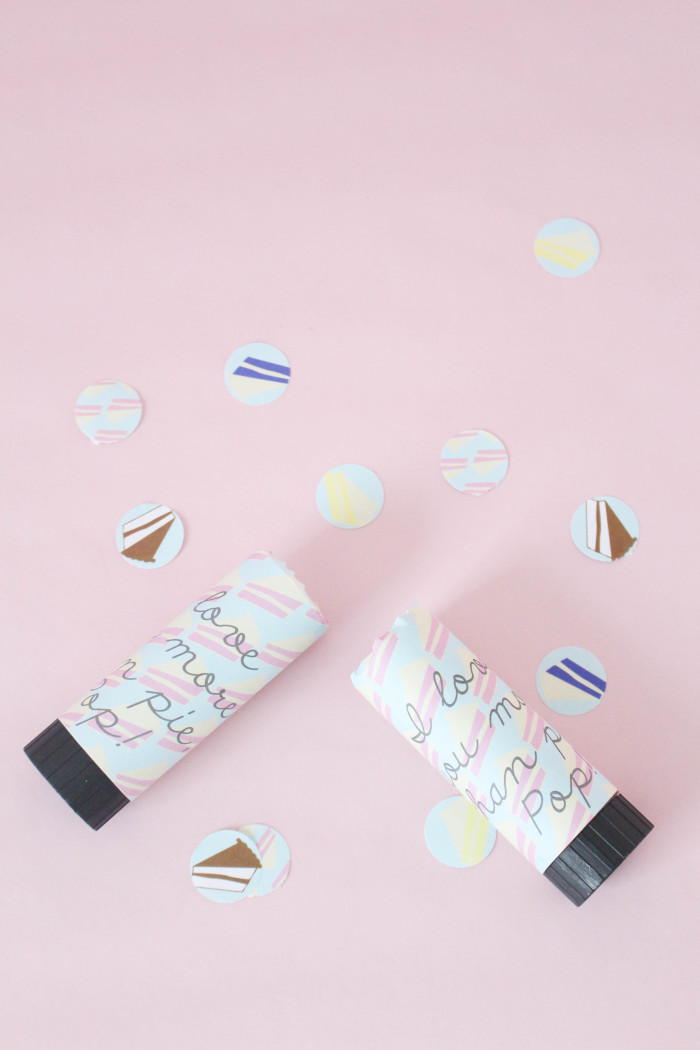 """Give Pop a confetti """"pop""""per card for Father's  Day and tell him you love him even more than your favorite food! via A Joyful Riot"""