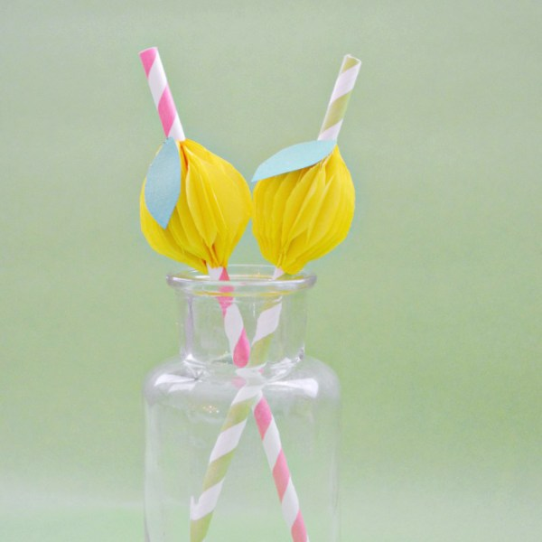 Honeycomb Lemon Straws