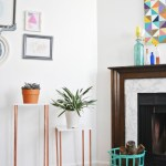 Marble and Copper Plant Stands