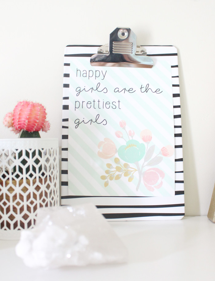 IMG_627happy girls are the prettiest girls audrey hepburn free printable in 4 sizes | A Joyful Riot5