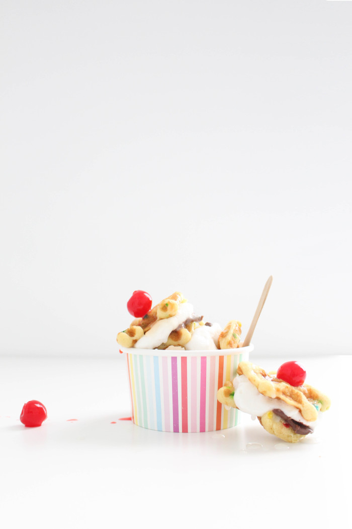 Ice cream sundae cone s'mores | 6 unique, colorful and delicious ways to make a s'more | A Joyful Riot-6
