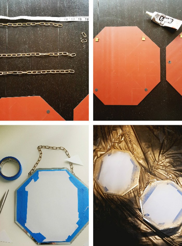 Amp up simple mirrors with chain and paint to create gorgeous accent home decor | A Joyful Riot
