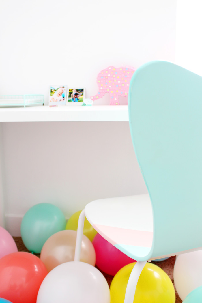 DIY colorblocked office chair | A Joyful Riot