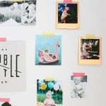 DIY Metallic Polaroid Frames