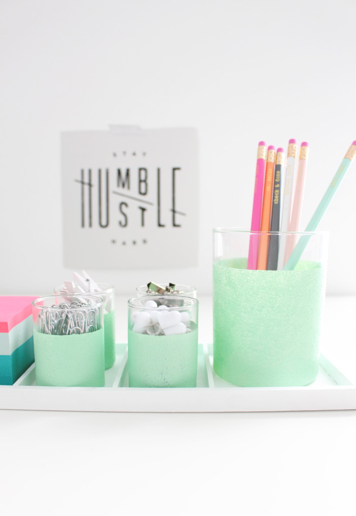 DIY desk caddy + 4 other nifty desk crafts! | A Joyful Riot