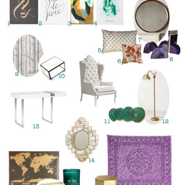 Chairish Blogger Challenge: Emerald Office Inspiration Board