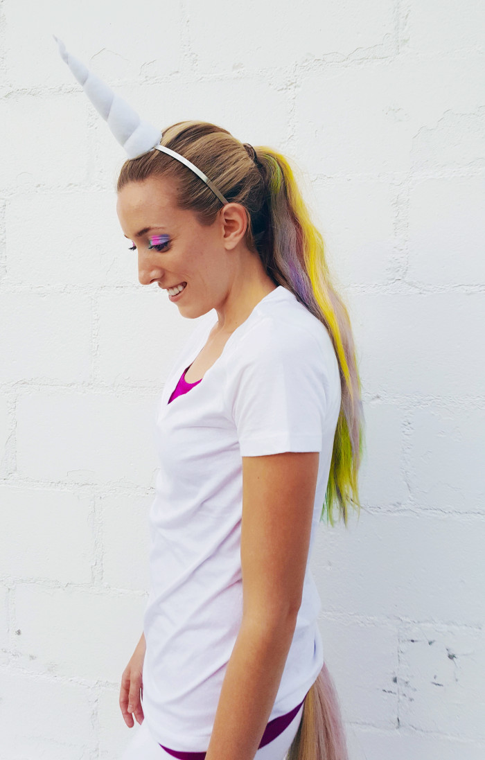 Pastel rainbow unicorn costume on ajoyfulriot.com @ajoyfulriot-2