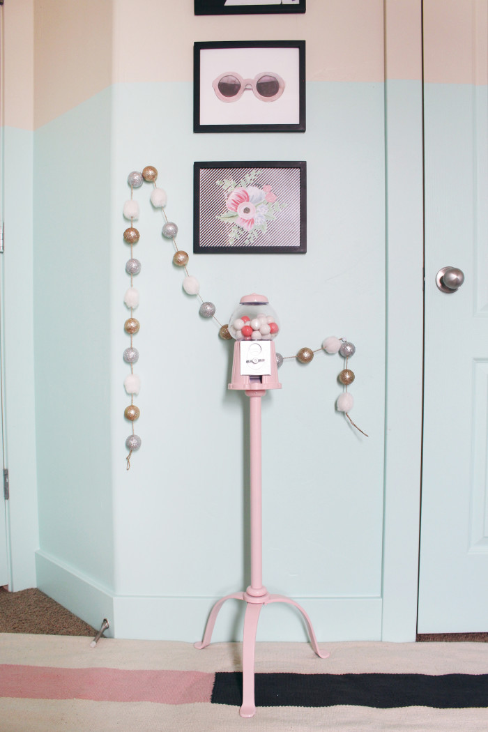 DIY gumball machine & stand ajoyfulriot.com @ajoyfulriot