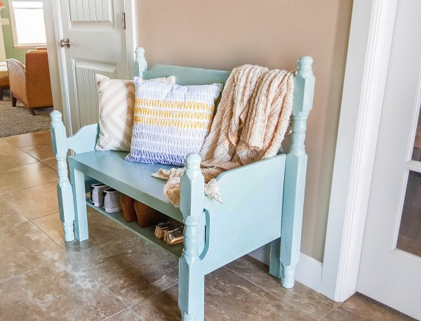 DIY Entryway Bench from Thrifted Finds