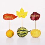 DIY Mini Gourd and Leaf Place Cards