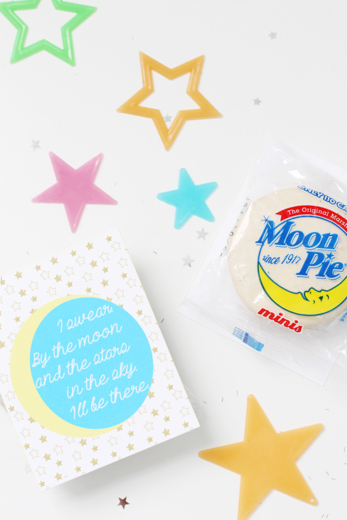 All 4 One Valentines. 90s themed moon pie valentines via ajoyfulriot.com @ajoyfulriot