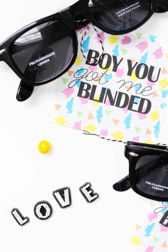 Britney Spears Valentines hit me baby one more time sunglasses for your boy with an option for your non-love interests too! via ajoyfulriot.com @ajoyfulriot
