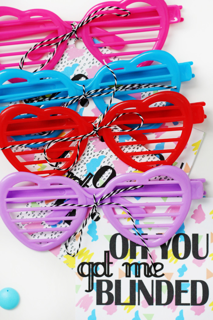 Britney Spears Valentines hit me baby one more time sunglasses for your friends! via ajoyfulriot.com @ajoyfulriot