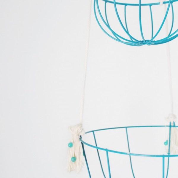 DIY Hanging Wire Planter
