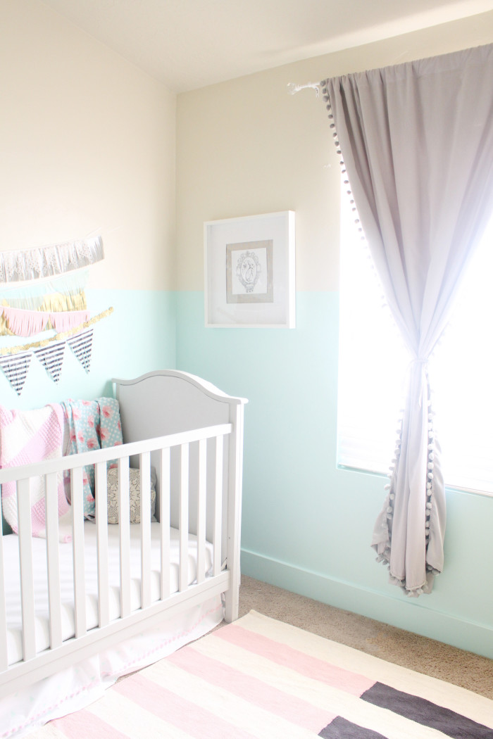 mint, pink, black, gold and silver nursery 18