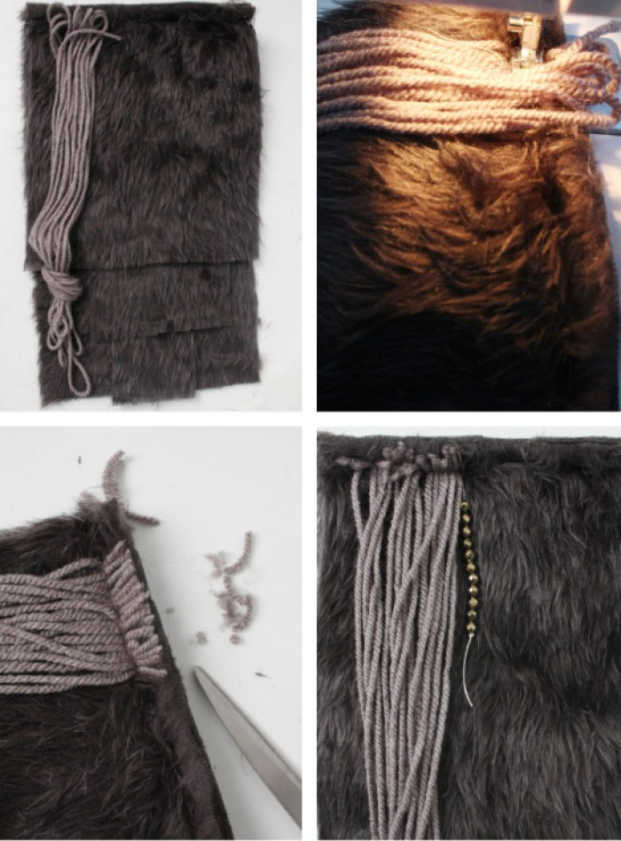 Faux fur wall hanging DIY decor from ajoyfulriot.com @ajoyfulriot