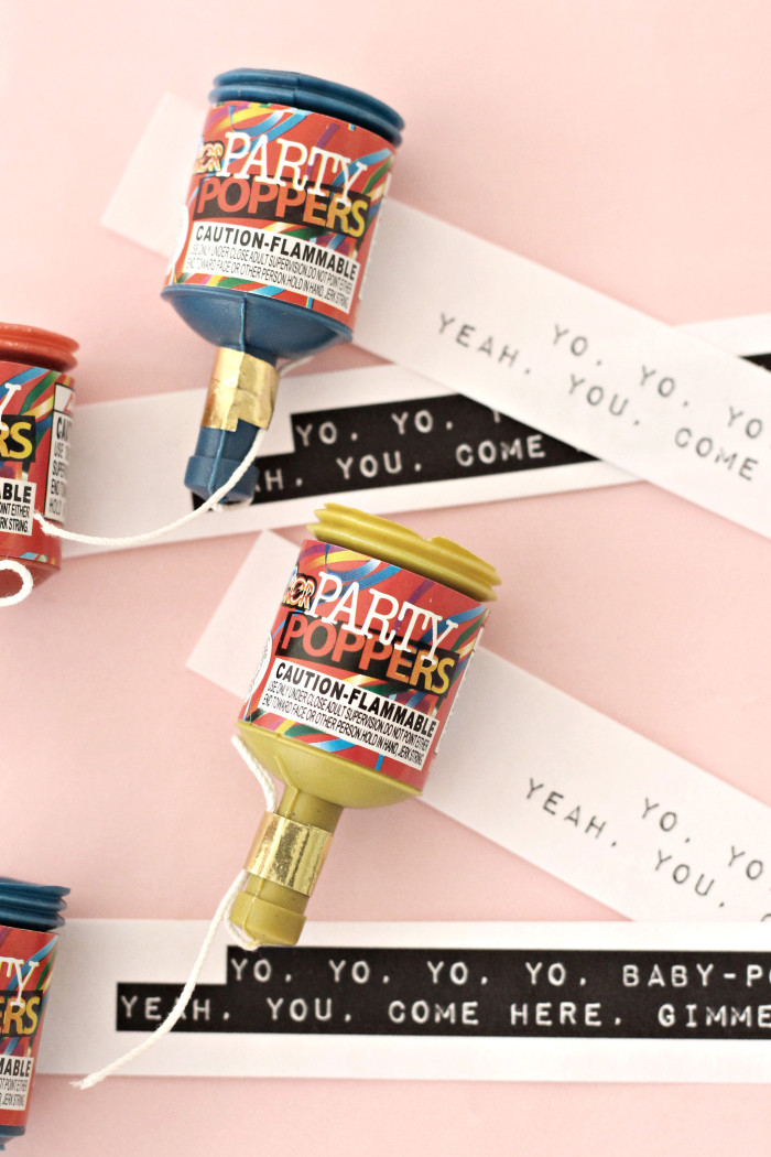 "90's Inspired Valentines, free printable Salt N Pepa ""Push It"" party popper non-candy Valentines ajoyfulriot.com @ajoyfulriot"
