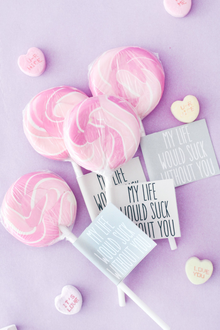 Kelly Clarkson %22My Life Would Suck Without You%22 Valentine Printables from ajoyfulriot.com @ajoyfulriot-16