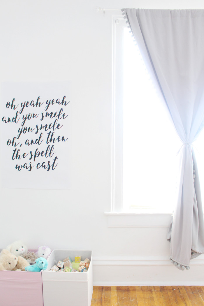 Black, white, pink nursery via ajoyfulriot.com @ajoyfulriot 24