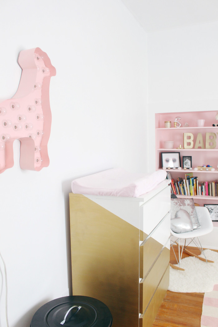 Black, white, pink nursery via ajoyfulriot.com @ajoyfulriot 26