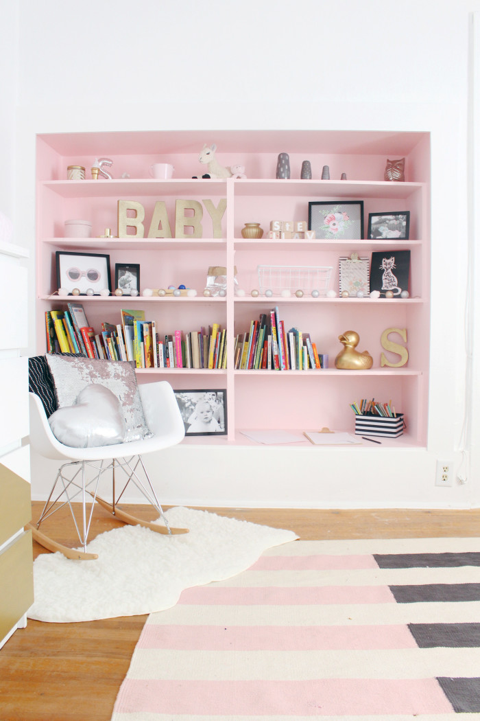 Black, white, pink nursery via ajoyfulriot.com @ajoyfulriot 27