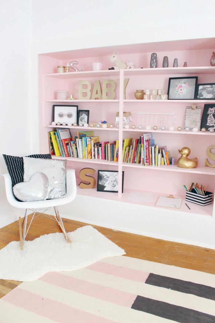 Black, white, pink nursery via ajoyfulriot.com @ajoyfulriot 28