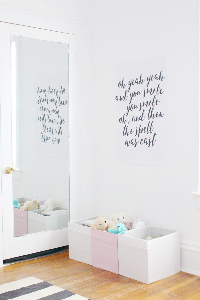 Black, white, pink nursery via ajoyfulriot.com @ajoyfulriot 3