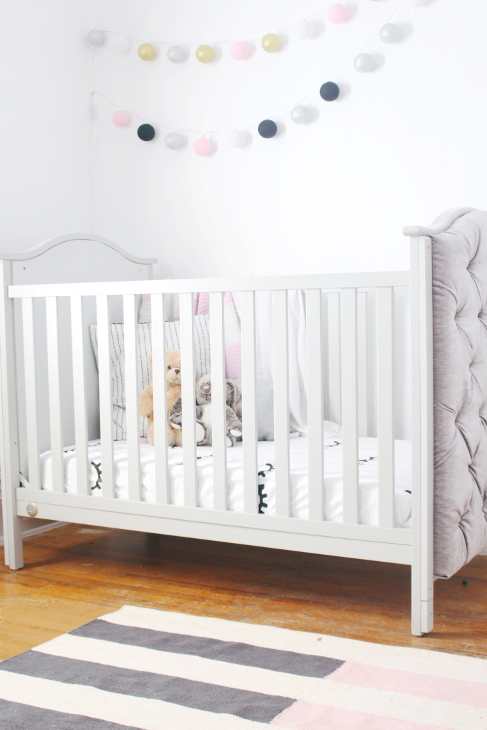 Black, white, pink nursery via ajoyfulriot.com @ajoyfulriot 6